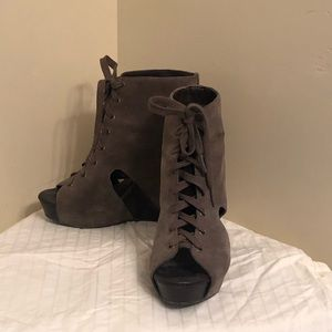 Lucky Brand open toed booties